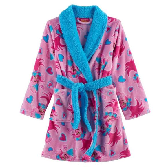 Dreamworks Trolls Poppy Girls Size 6 Fleece Rainbow Dreams Pajama Set